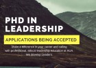 PhD in Leadership Applications