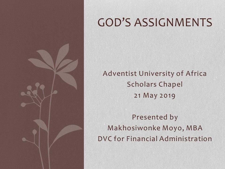 Gods Assignments
