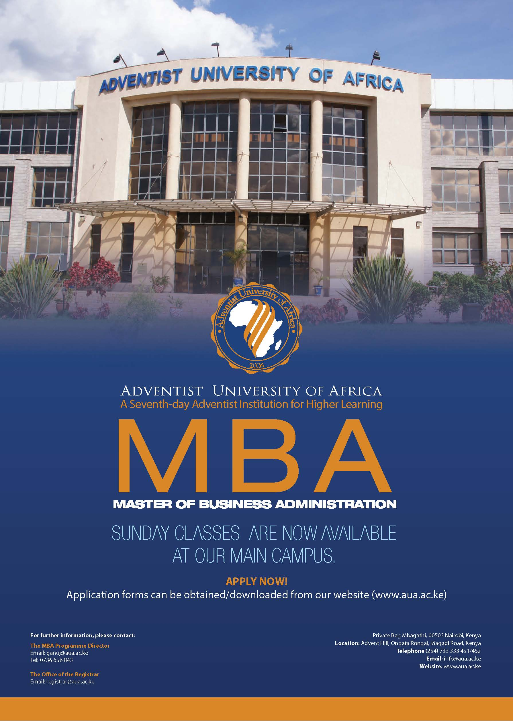 MBA Sunday Classes 2018