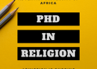 NEW Programme - PhD in Religion